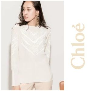 NWT Chloé embroidered detail blouse
